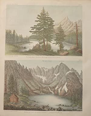 Two 1864 Aquatints of High Lakes in Central Carpathia