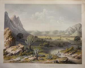 1864 Aquatint of Keren and the Plateau of Moqarah, Seen from the Southeast