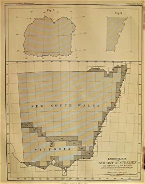 1865 Sketch of Southeast Australia to Illustrate the Method of Planimetric Calculations and Numer...