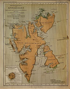 1865 Original Map of Spitsbergen Mainly after an Account by the Swedish Surveys of 1861-64. With ...