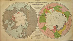 1865 Map of the Arctic and Antarctic Regions, the History of Discovery.