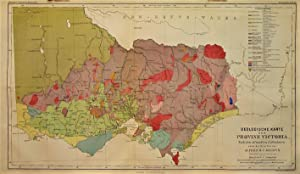 1865 Geological Map of Victoria Province after the Official Survey under the Direction of Alfred ...