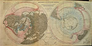 1865 Map of the Arctic and Antarctic Regions Outlining the Geographic Perspective in 1865 : the O...