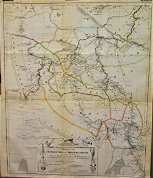 1865 Map of the Western Areas of the Upper Nile Region Providing an Overview of Travel and Invest...