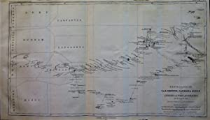 1863 Map of the Trip of C. & A. Dempster, Clarkson & Harper in the Interior of Western Australia,...