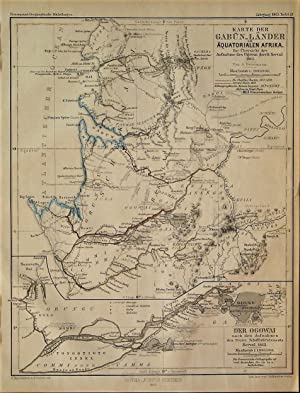 1863 Map of the Gabon Countries of Equatorial Africa. An Overview of the Recordings of Ogowai by ...