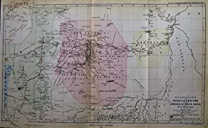 1875 Original Map of Wadai and Darfur Lands in the Sudan. By Dr. G. Nachtigal.