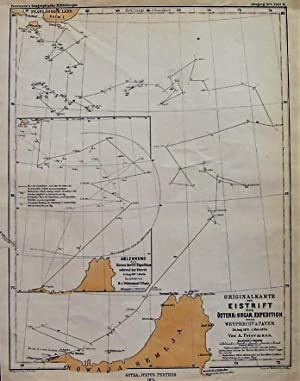 1875 Original Map of Ice Drift during the Austro-Hungarian Expedition under Weyprecht & Payer Aug...