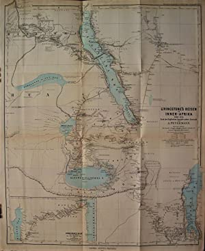 1875 Map of Livingstone's Travels in Inner Africa 1866-1873. According to the English Edition of ...