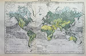 1876 Map of World: Overview of Surface Air Currents by Hermann Berghaus.