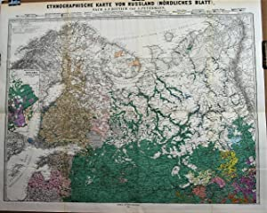 1878 Ethnographic Map of Russia after A.F. Rittich by A. Petermann. In two sheets.