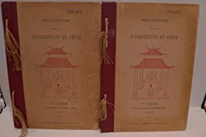 Recherches sur les Superstitions en Chine (Tome I, No. 1 & 2): DORE (Henri)