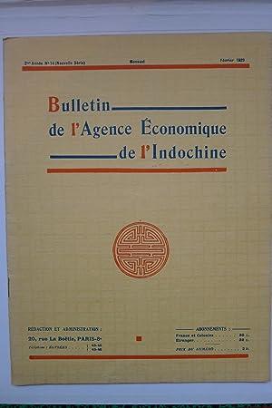 Bulletin de l'Agence Economique de l'Indochine, 2ème Année No. 14, F&eacute...