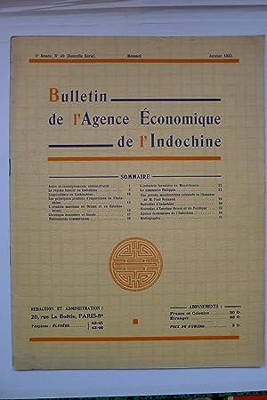 Bulletin de l'Agence Economique de l'Indochine, 5ème Année No. 49, Janvier ...