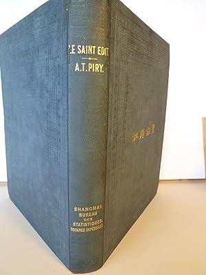 Le Saint-Edit - Etude de Littérature Chinoise: PIRY (A.Théophile)