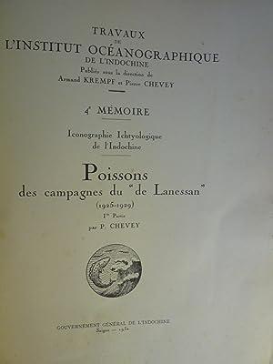 """Poissons des Campagnes du """"de Lanessan"""" (1925-1929): CHEVEY (P.)"""