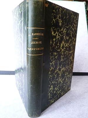 Lexique Français-Cambodgien: PANNETIER (A.)