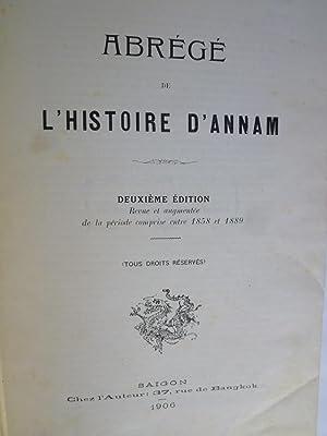Abrégé de l'Histoire d'Annam: SCHREINER (Alfred)