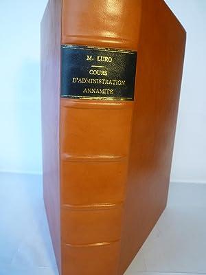 Cours d'Administration Annamite: LURO (J.B. Eliacin)