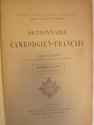 Dictionnaire Cambodgien-Français: GUESDON (Joseph)