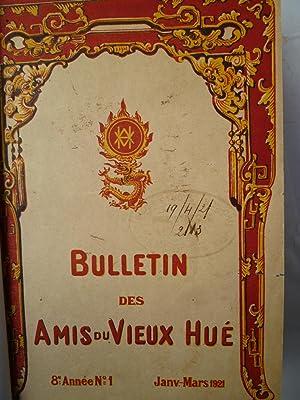 Bulletin des Amis du Vieux Hué, 1921.: CADIERE (Henri) - [BULLETIN DES AMIS DU VIEUX HUE]