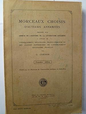 Morceaux Choisis d'Auteurs Annamites précédés d'un Abrég&...