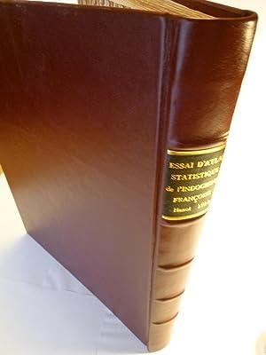 Essai d'Atlas Statistique de l'Indochine Française: BRENIER (Henri)