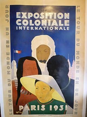 Affiche originale de l'Exposition Coloniale Internationale de Paris, en 1931.: EXPOSITION ...