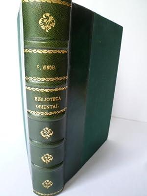 Biblioteca Oriental comprende 2747 obras relativas a Filipinas, Japon, China y otras partes de Asia...