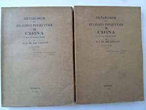 Sectarianism and Religious Persecution in China - A Page in the History of Religions: DE GROOT (...