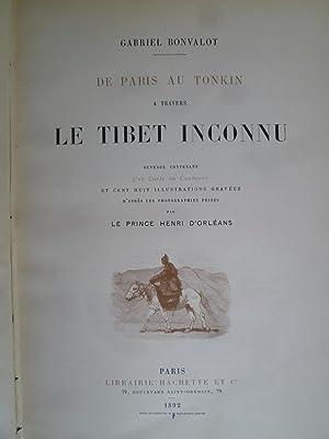 De Paris au Tonkin - A travers le Tibet Inconnu: BONVALOT (Gabriel)