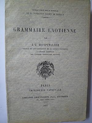 Grammaire Laotienne: HOSPITALIER (J.-J.)