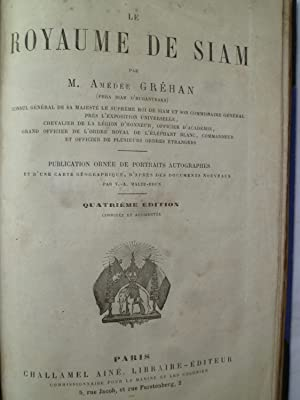 Le Royaume de Siam: GREHAN (M.A.)