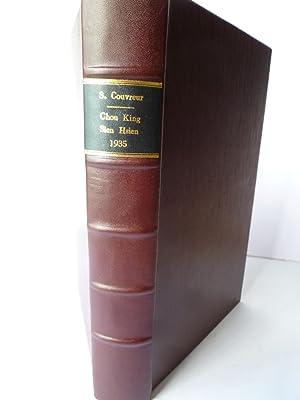 Chou-King, Texte Chinois avec une double Traduction en Francais et en Latin, des Annotations et un ...