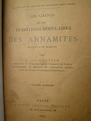 Les Chants et les Traditions Populaires des Annamites: DUMOUTIER (G.)