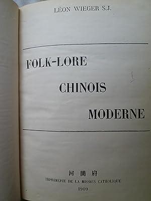 Folk-Lore Chinois Moderne: WIEGER (Léon) S.J.