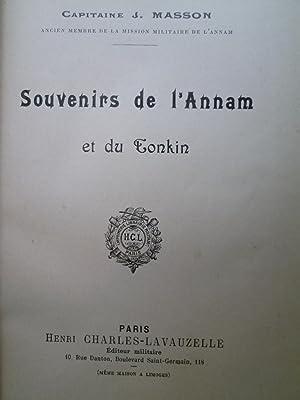 Souvenirs de l'Annam et du Tonkin: MASSON (Capitaine J.)