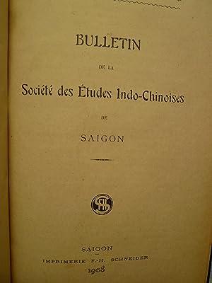 Bulletin de la Société des Etudes Indochinoises de Saïgon - Bulletin No 54 - 1er...