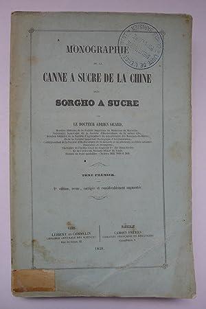 Monographie de la Canne à Sucre dite Sorgho à Sucre: SICARD (Dr Adrien)