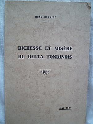Richesse et Misère du Delta Tonkinois: BOUVIER (René)
