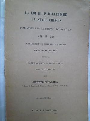 La Loi du Parallélisme en style chinois démontrée par la Préface du ...