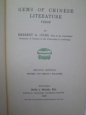 Gems of Chinese LiteratureVerse: GILES (Herbert A.)