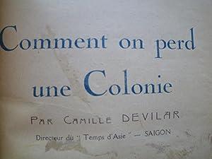 Comment on perd une Colonie: DEVILAR (Camille)