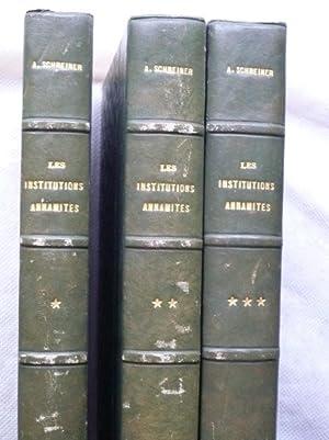 Les Institutions Annamites en Basse-Cochinchine avant la Conquête Française: SCHREINER...