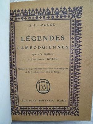 Légendes Cambodgiennes que m'a contées le Gouverneur Khieu: MONOD (G.-H.)