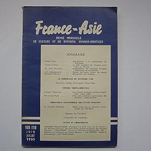 France-Asie - Revue Mensuelle de Culture et de Synthèse Franco-Asiatique: FRANCE-ASIE [...
