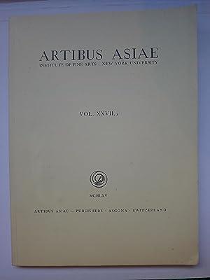 Artibus Asiae - MCMLXV- Vol. XXII, 3: [ARTIBUS ASIAE]