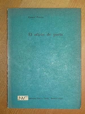 El oficio de poeta. Selección y traducción: Pavese, Cesare.