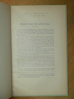 Tractado de amiçiçia.: Bonilla y San