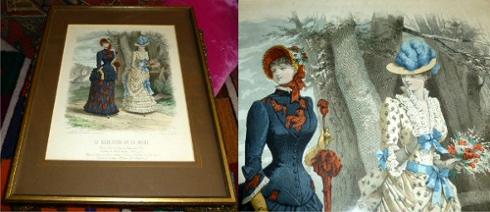 Handkolorierte Original-Federzeichnung von Jules David: Le Moniteur: Jules David, E.